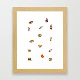 food court ii Framed Art Print
