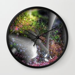 Plants of a fantasy forest Wall Clock