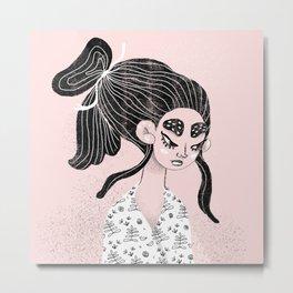 Some angry girl Metal Print