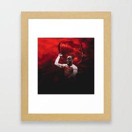 Alexandre Lacazette Celebration Framed Art Print