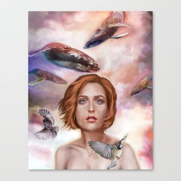 Whales and Sparrows Canvas Print