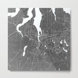 Olympia USA Modern Map Art Print Metal Print