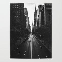 New York City (Black and White) Poster