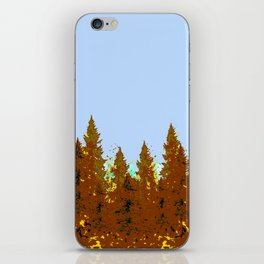 DECORATIVE BROWN-OCHER COLORED FOREST iPhone Skin