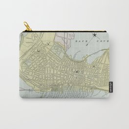 Vintage Map of Portland Maine (1889) Carry-All Pouch
