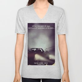 vintage 1980s car ad Unisex V-Neck