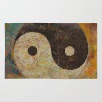 yin yang Area & Throw Rugs featuring Yin Yang by Michael Creese