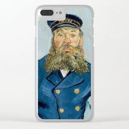 """Vincent Van Gogh """"Portrait of the Postman Joseph Roulin"""" Clear iPhone Case"""