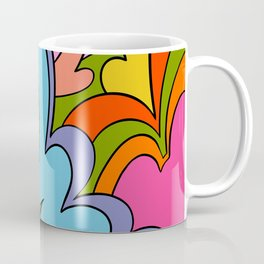 Psychedelia - Psychedelic Paisley Ornamentic Kaleidoscopic Art Nouveau LSD Pattern Coffee Mug
