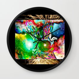 Bunny galaxy Wall Clock