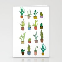 coachella Stationery Cards featuring Cactus by stylishbunny