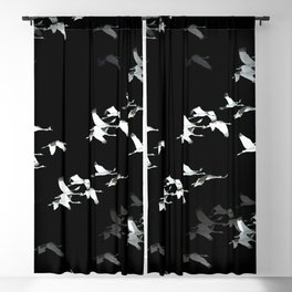 Abstract Black and White Crane Flock #decor #society6 Blackout Curtain