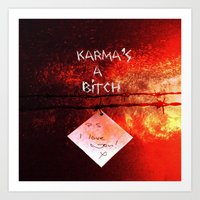 karma Art Prints featuring Karma by Veronica Ventress