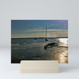 Crab claw on pier | In a Pinch | Severna Park, MD Mini Art Print