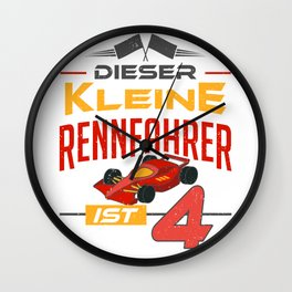 Little Car Racer Racing Red Auto Vintage Kids Gift Wall Clock