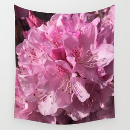 Pink Rhododendron Wall Tapestry