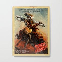 Trash Planet Metal Print
