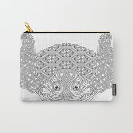 Sea Turtle Mandala Color Your Own Art Carry-All Pouch