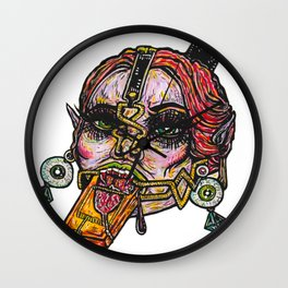 Clamp Vamp Wall Clock