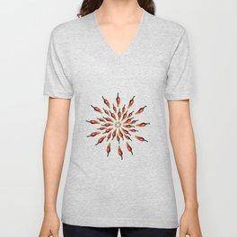 Red Peppers Mandala Art Unisex V-Neck