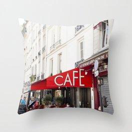 Cafe in Paris Throw Pillow