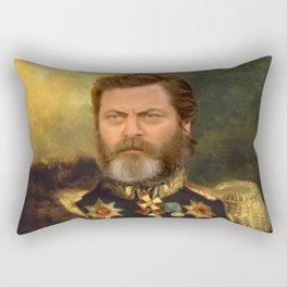 Nick Offerman Classical Painting Photoshop Rectangular Pillow