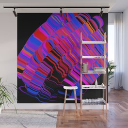 curved ripples on black Wall Mural