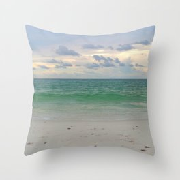 Evening Storm Passing By Throw Pillow