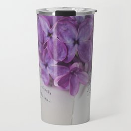 Lilac Bookmark II Travel Mug