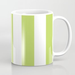 Stripes (Parallel Lines) - Green White Coffee Mug
