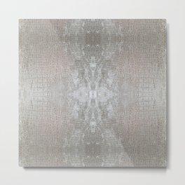 Silver Velvet Snake Pattern Metal Print