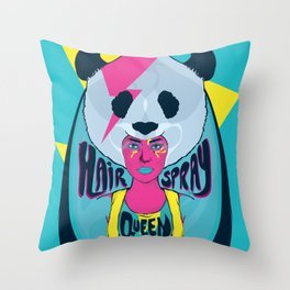 hair spray queen Throw Pillow
