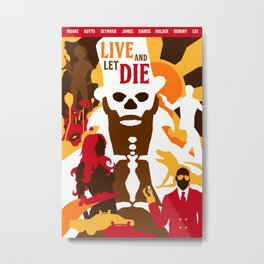 James Bond Golden Era Series :: Live and Let Die Metal Print