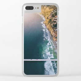 Aerial view of Scripps Pier in San Diego Clear iPhone Case