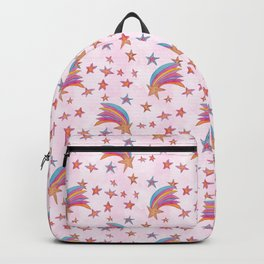 Stars and Rainbow Pattern Illustration Backpack