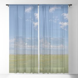 Wide Open Spaces - Badlands Photography Sheer Curtain