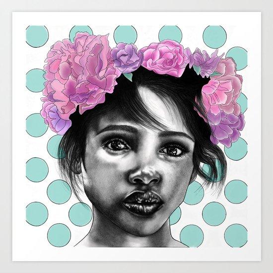 Princesse Paris Rose Art Print