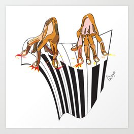 Piano hands Art Print