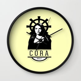 Can see your halo: Cora Wall Clock