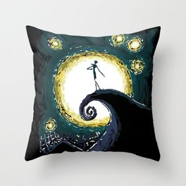 Jack & the Moon Throw Pillow