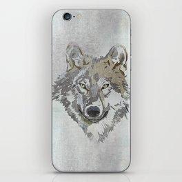 Wolf Head Illustration iPhone Skin