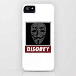 Binairy Vendetta: Disobey iPhone Case
