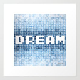 Dream watercolor mosaic typography Art Print
