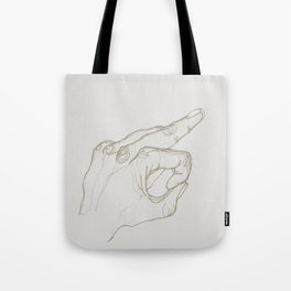 Angry Hands - Gold Tote Bag