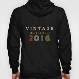 4 Year Old Birthday Gift Vintage 2016 October Hoody