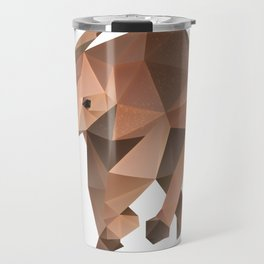 Low Poly Elephant Travel Mug