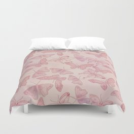 Butterfly Pattern soft pink pastel Duvet Cover