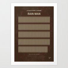 No602 My Rain Man minimal movie poster Art Print