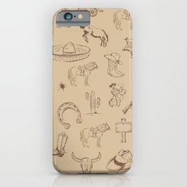 WILD WEST ADVENTURE on Marzipan Pastel color iPhone Case