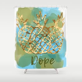 the cool kids fruit Shower Curtain